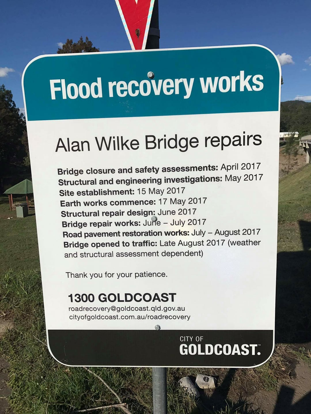 Alan Wilke Bridge Update