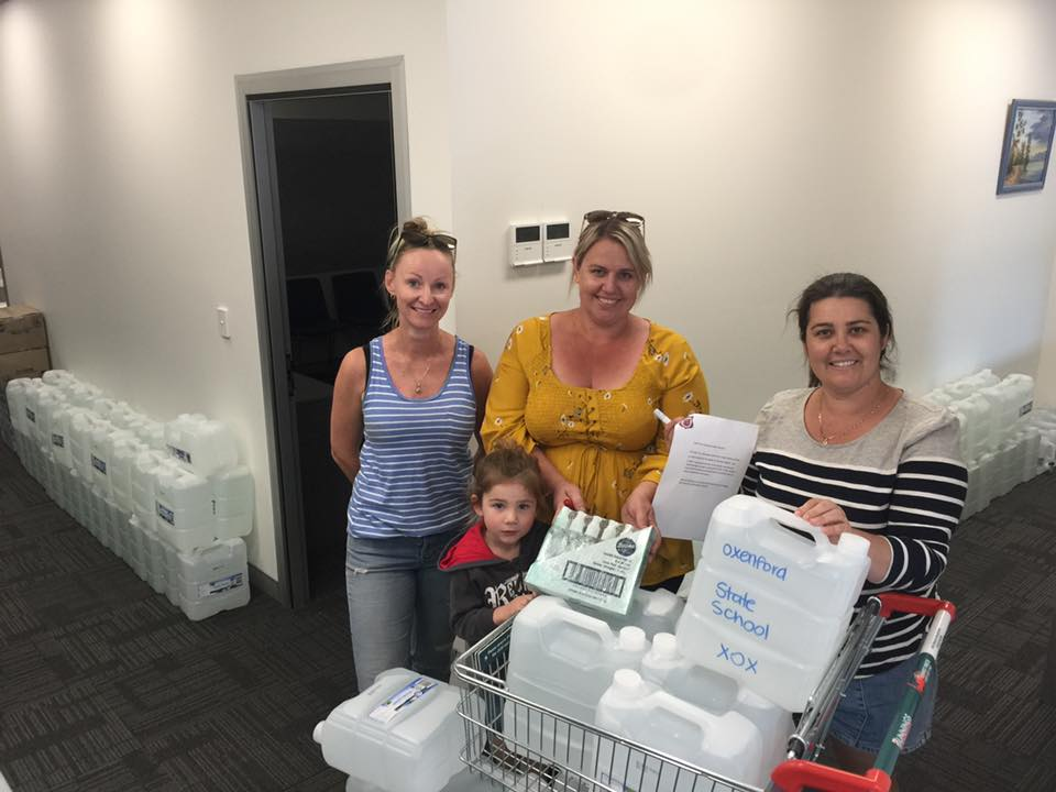 Oxenford State School Water For The West Donation