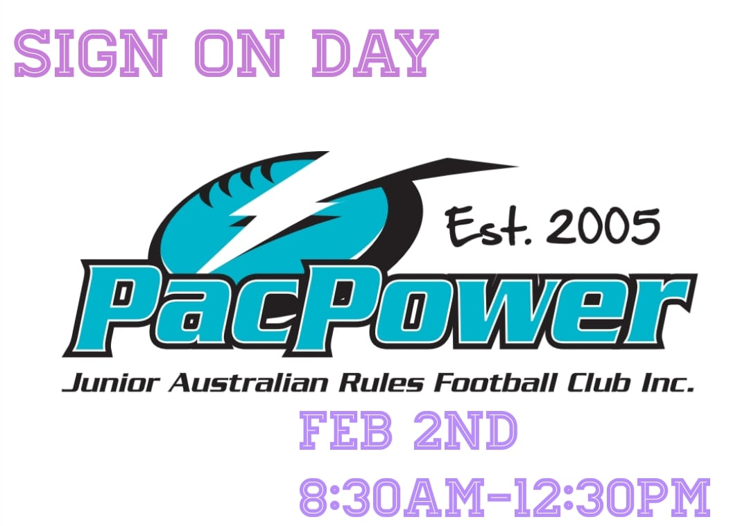 Pac Power AFL Club 2019 Sign On Day Feb 2