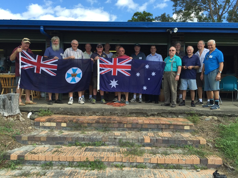 Flags for the Oxenford Men's Shed